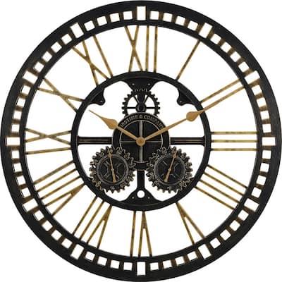 Gilded Gears Outdoor Clock