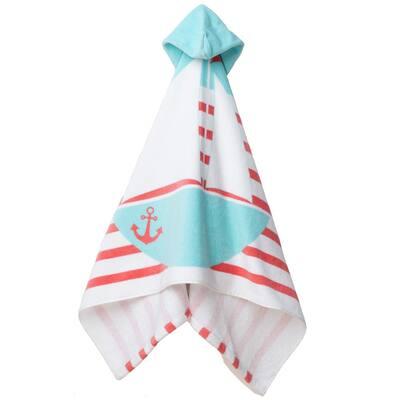 Sailing Coral Hoodie Towel