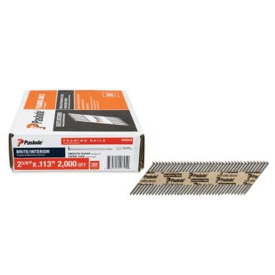 2-3/8 in. x 0.113-Gauge 30-Degree Brite Smooth Shank Paper Tape Framing Nails (2000 per Box)
