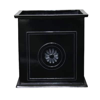 Colony 16 in. x 16 in. Black Resin Composite Square Planter Box