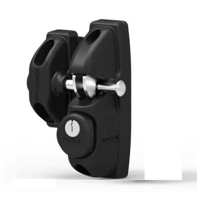 Black Key-Lockable Gate Latch