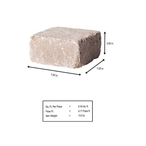 Pavestone Rumblestone Medium 3 5 In X 7 In X 7 In Cafe Concrete Garden Wall Block 91769 The Home Depot