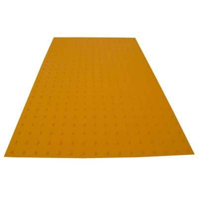 RampUp 36 in. x 5 ft. Federal Yellow ADA Warning Detectable Tile