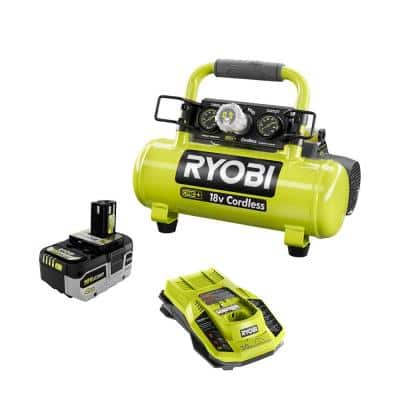 ONE+ 18V Cordless 1 Gal. Portable Air Compressor with HIGH PERFORMANCE 4.0 Ah Battery and Charger Kit