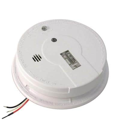 Firex Hardwired Smoke Detector with 9-Volt Battery Backup and Safety Light