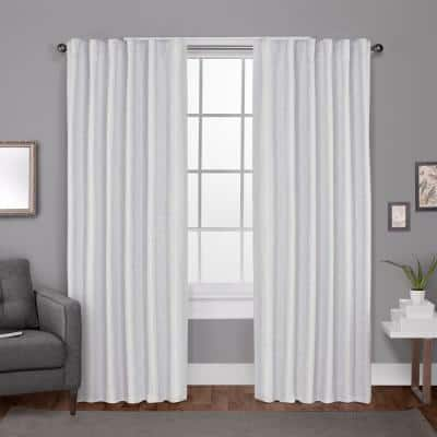 Winter White Woven Thermal Blackout Curtain - 52 in. W x 84 in. L (Set of 2)