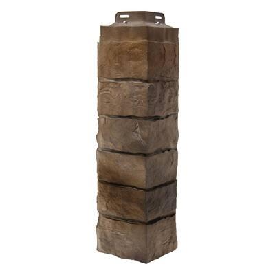 6.10 in. W x 21.25 in. Corner Artisan Cut Polymer Stone Saddle Panel Trim