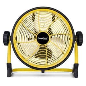 Cordless 10 in. Variable Speed Floor Fan