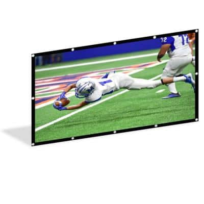 170 in. Foldable PVC Projector Screen 16:9 HD Anti-Crease Portable Indoor/Outdoor Movies Projection Screen