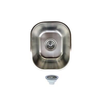 18 Gauge Stainless Steel 10 in. Undermount Bar Sink