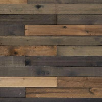 1/2 in. x 4 in. x 4 ft. Weathered Hardwood Board (8-Piece)