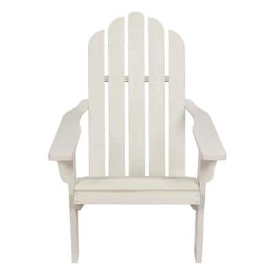 Marina II 37.5 in. Tall White Cedar Wood HYDRO-TEX Finish Adirondack Chair