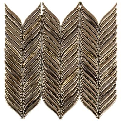 Delphi Alula Metallic Copper 10 in. x 12 in. Glazed Ceramic Mosaic Tile (0.85 sq. ft./Sheet)