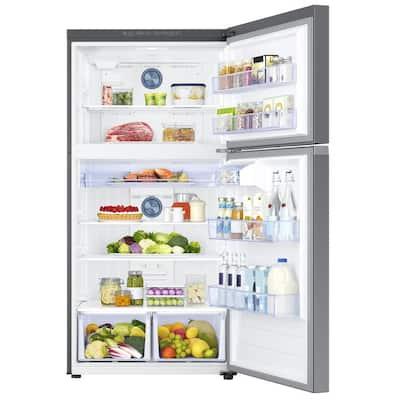 21.1 cu. ft. Top Freezer Refrigerator with FlexZone Freezer in Stainless, Energy Star