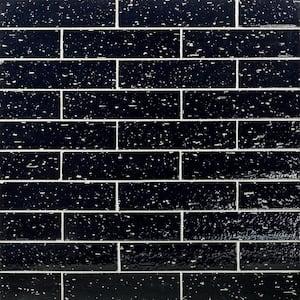 Rhythmic Caviar 2 in. x 9 in. 12mm Glazed Clay Subway Tile (30-piece 4.63 sq. ft. / box)