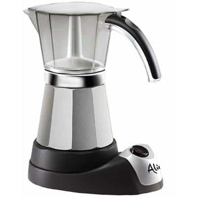 Italian Moka 6-Cup Black Stainless Steel Espresso Machine