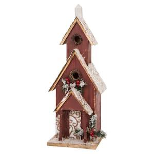23.43 in. H Oversized Wooden Church Birdhouse