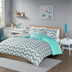 Laila 4-Piece Teal Twin Comforter Set