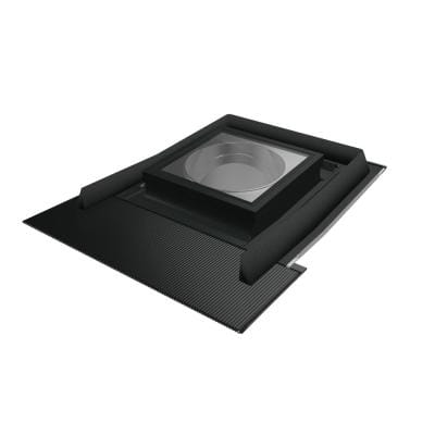 SRH-L 10 in. Flat Glass Tubular Skylight with Rigid Light Tunnel and Integrated High-Profile Flashing