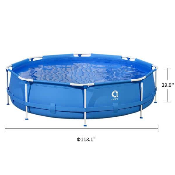 Avenli 10 Ft Round 30 In Outdoor Above Ground Swimming Pool Metal Frame Pool Tcht Rc Llh1155 01 The Home Depot