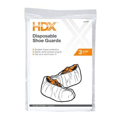 Disposable Shoe Covers (3-Pairs)