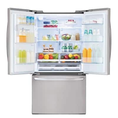 22 cu. ft. French Door Smart Refrigerator with Glide N' Serve, Wi-Fi Enabled in PrintProof Stainless Steel,Counter Depth