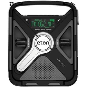 Sidekick AM/FM/NOAA Weather Alert Radio w/S.A.M.E Technology, Smartphone Charging, Bluetooth, Ambient Light, Solar Panel
