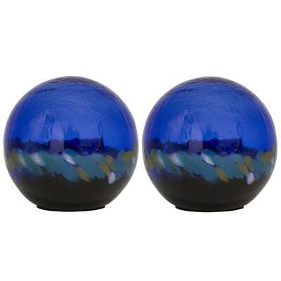 5 in. Art Glass Solar Gazing Ball, Alyssa (2-Pack)