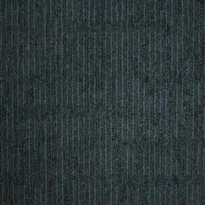 Union Square Blue Pewter Loop 19.7 in. x 19.7 in. Carpet Tile (20 Tiles/Case)