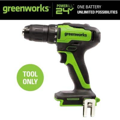 1/2 in. 24-Volt Battery Cordless Brushless Drill/Driver (Tool-Only)