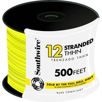 500 ft. 12-Gauge Yellow Stranded CU THHN Wire