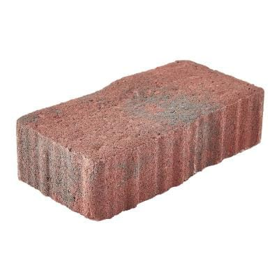 Clayton 7 in. L x 3.5 in. W x 1.77 in. H Red/Charcoal Concrete Paver