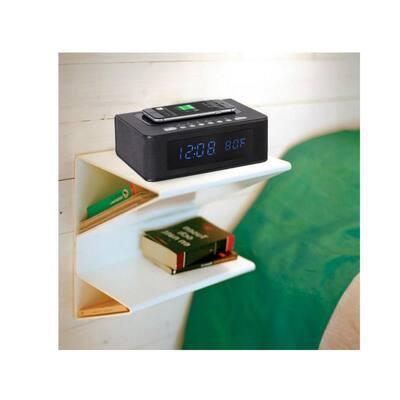 Wireless Charging Bluetooth Speaker Clock Radio with Alarm
