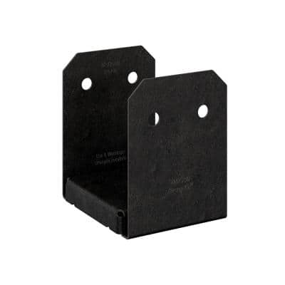 Outdoor Accents Avant Collection ZMAX, Black Powder-Coated Post Base for 6x6 Rough Lumber