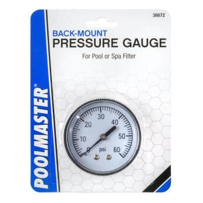 1/4 in. Back Mounted Swimming Pool and Spa Pressure Gauge