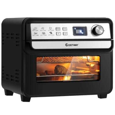 23 qt. Black 12-in-1 Air Fryer Oven with Rotisserie