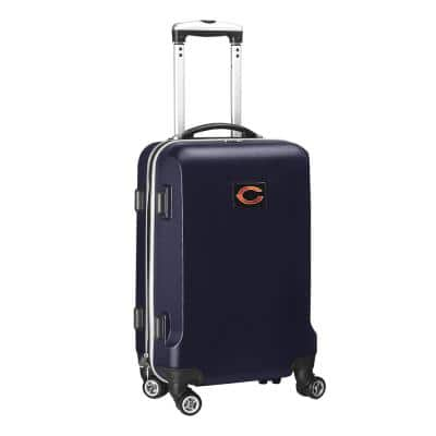 NFL Chicago Bears 21 in. Navy Carry-On Hardcase Spinner Suitcase