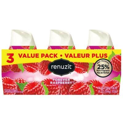 Fresh Picked Collection 7 oz. Raspberry Adjustable Gel Air Freshener (3-Pack)