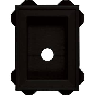 5.0625 in. x 6.75 in. # 002 Black Wrap Around Universal Mounting Block