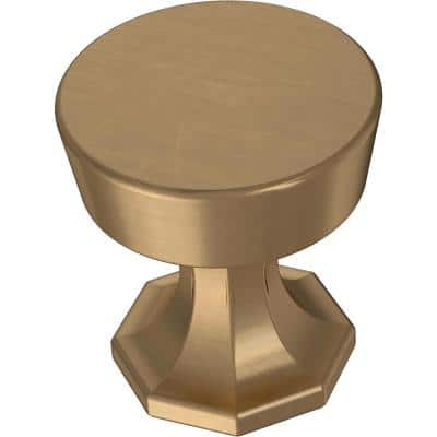 Classic Octagon 1-1/4 in. (32 mm) Champagne Bronze Cabinet Knob