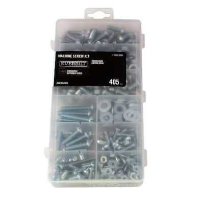 405-Piece Zinc-Plated Machine Screw Kit