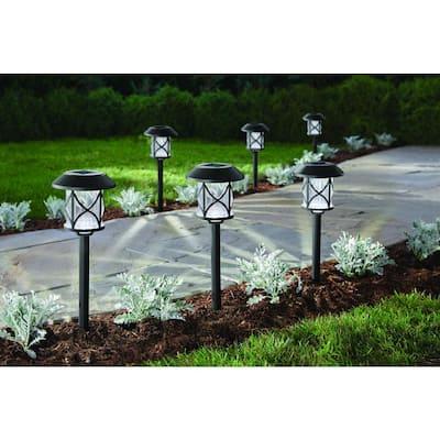 10 Lumens Solar Black LED Path Light (6-Pack)
