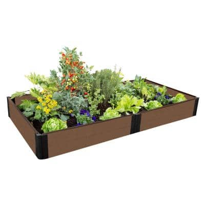 One Inch Series 4 ft. x 8 ft. x 11 in. Uptown Brown Composite Raised Garden Bed