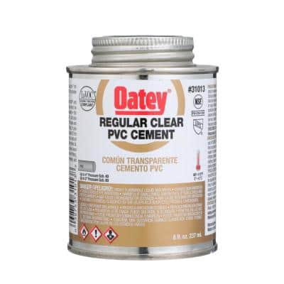 8 oz. Regular Clear PVC Cement