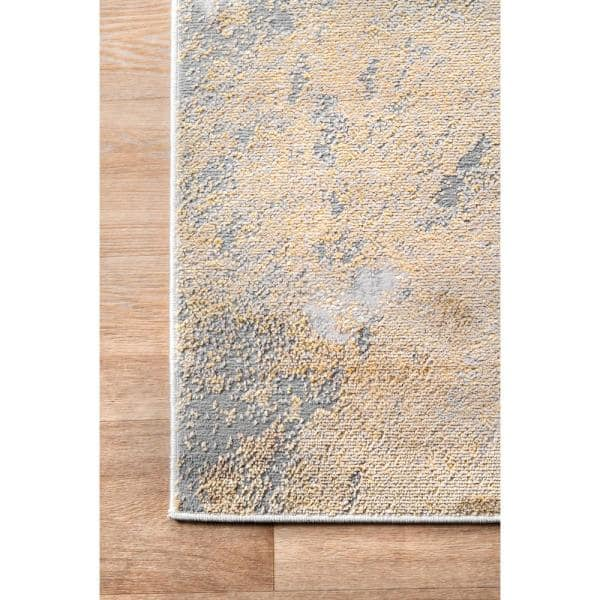Nuloom Cyn Modern Abstract Gold 5 Ft X 8 Ft Area Rug Cfdr02a 508 The Home Depot