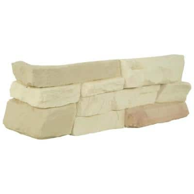 Terrado Bayside Cream Manufactured Stacked Stone Corner (4 sq. ft. / case)
