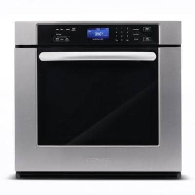 30 in. 5 cu. ft. Single Electric Wall Oven with True European Convection and Self Cleaning in Stainless Steel