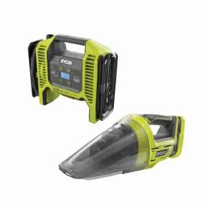 ONE+ 18V Dual Function Inflator/Deflator with ONE+ 18V Lithium-Ion Cordless Hand Vacuum (Tools Only)