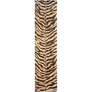 Bergama Beige/Brown 2 ft. x 10 ft. Animal Print Runner Rug