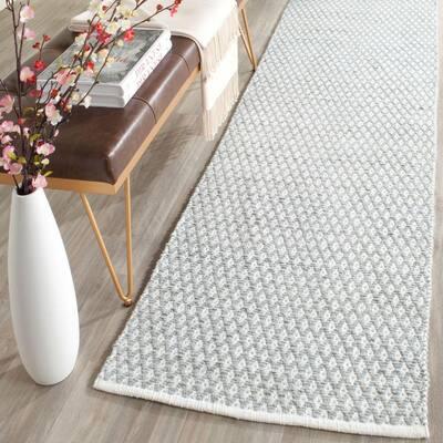 Boston Grey 2 ft. x 7 ft. Geometric Diamonds Runner Rug